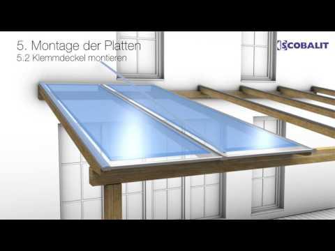 Verlegung Hohlkammerplatten mit PVC-Klemmprofil von  Scobalit