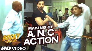 ANC Police Station Action (Making) - Video - Rocky Handsome