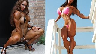Мускулистые девушки в мини бикини. Muscle Women.