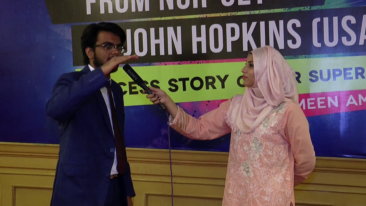 Ex-NCRian (Hallar) sharing his experience at the event of Dr.Sharmeen Amin