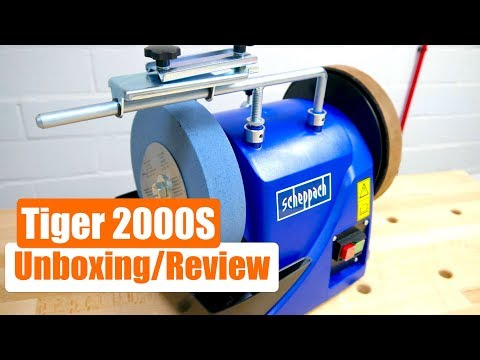 Unboxing - Review - Nassschleifer  Scheppach Tiger 2000S - TEST