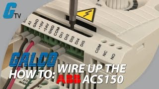 How to Wire Up an ABB ACS150 Drive