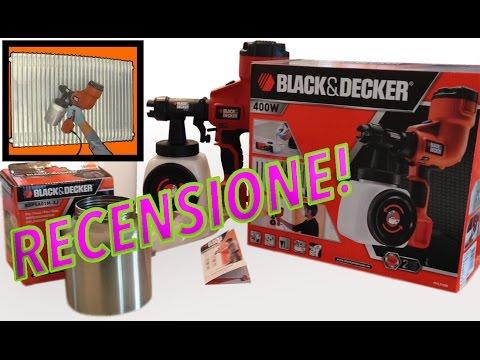 Recensione pistola a spruzzo elettrica per verniciatura Black & Decker HVLP 200