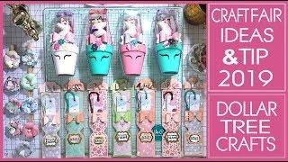 Craft Fair Ideas 2019 - 3 Ideas Plus Craft Fair Tip - Dollar Tree Crafts