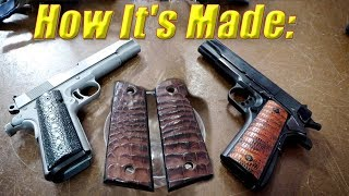 1911 Grips Exotic Leather // Best 1911 Upgrades // How It's Made with Sam Andrews