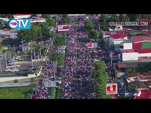 Tomas aéreas: Familias demuestran su respaldo a la Paz con multitudinaria caminata