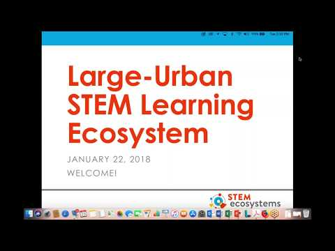 January 2018 – Discussion with Large Urban STEM Learning Ecosystems