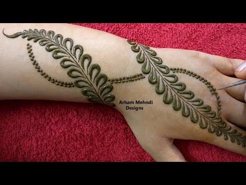 Easy Simple Bridal Mehndi Design for Hand || Unique Stylish Mehndi Design || Arham Mehndi Designs