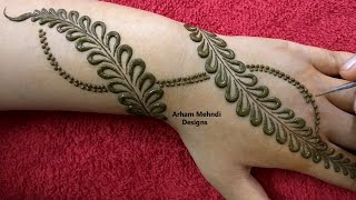 New Easy Beautiful Stylish Mehndi Design || Karwachauth Special Mehndi || Arham Mehndi Designs