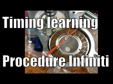 Exhaust valve timing control learning procedure Infiniti G35