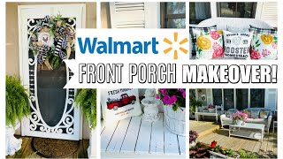 Walmart FRONT PORCH MAKEOVER On A BUDGET 🌿GARDEN WITH ME ~ Olivias Romantic Home DIY