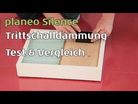 Akustik Test: Trittschalldämmungen im Vergleich - Schaumstoffdämmung gegen planeo Silence