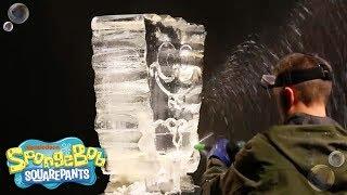 Ice Sculpture Time Lapse | SpongeBob