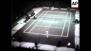 Budge And Vines Play Professional Tennis