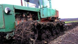 Болотоход с пластиковым плугом | ДТ-75 и ПЛН-4 35 #Сельхозтехника ТВ