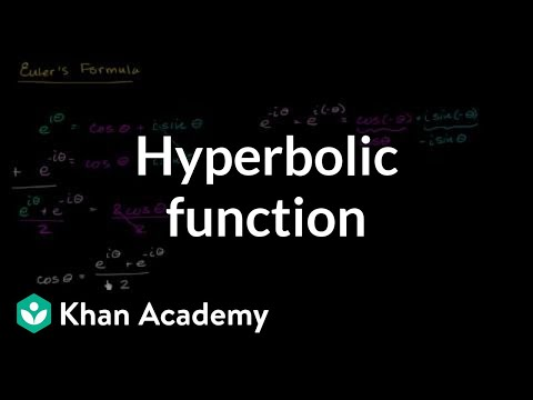 A thumbnail for: Hyperbolic trig functions