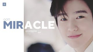 GOT7 - Miracle Line Distribution (Color Coded)   갓세븐 - 리패키지