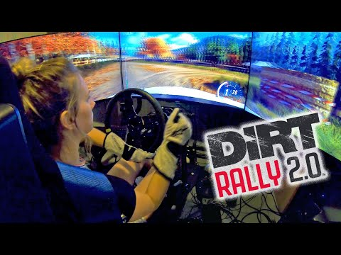Rally Driver chasing down ghost on Dirt Rally 2.0 WRC