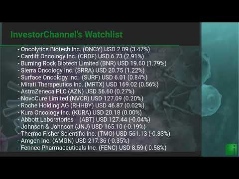InvestorChannel's Cancer Treatment Watchlist Update for Th ... Thumbnail