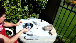Protecting Felted Slippers With Liquid Latex Video By FeltSoapGood