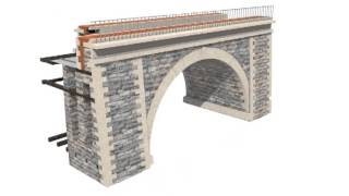 preview picture of video 'The Chirk Aqueduct, Chirk, Wrexham - Royal Commission Animation'