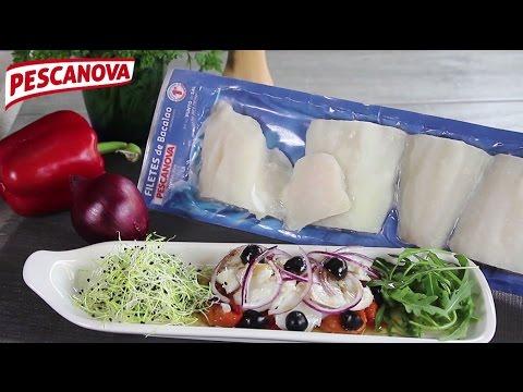 Imagen de la receta de Bacalao a la Plancha y Espinacas con Pasas y Piñones