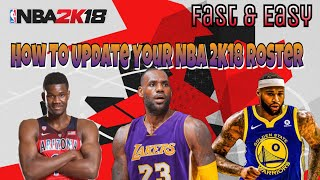 How To Get NBA 2K18 Offseason Roster with Rookies (PC, Xbox