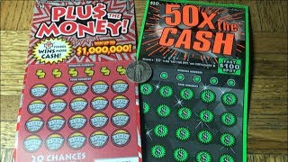 I Guess I Need Glasses! PLUS THE MONEY & 50X THE CASH California Lottery Scratcher Tickets