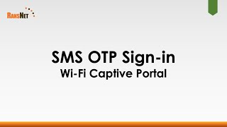 Sign-in to Wi-Fi captive portal via SMS OTP