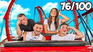 Riding the Worlds Fastest ROLLER COASTER 100 Times IN A ROW...