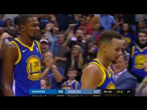 Stephen Curry and Kevin Durant Get Ejected!!! Stephen Curry Throws Mouthpiece at Referee!!!