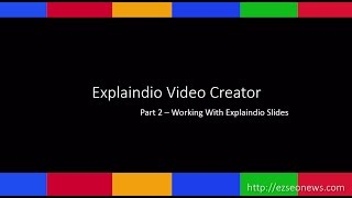Explaindio Tutorial - Working with slides