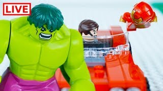 LEGO Superheroes LIVE 🔴 STOP MOTION LEGO Hulk: The Angry Avengers | LEGO Hulk | By Billy Bricks