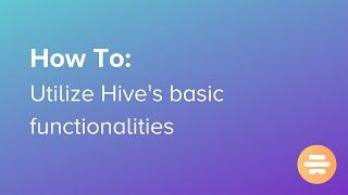 Vídeo de Hive