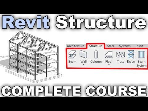 Revit Structure - Complete 1h Course - YouTube