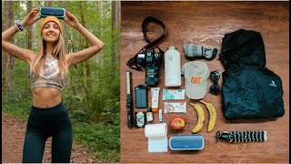 HOW I PACK FOR A DAY HIKE + MY FAVORITE CAMERA LENS!