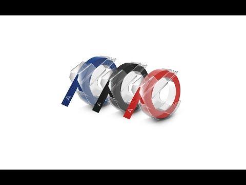 Etichete plastic embosabile DYMO Omega, 9mmx3m, asortat, 3buc/set, S0847750