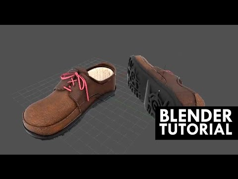 How to model realistic shoes in Blender