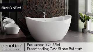 PureScape 171 Mini Freestanding Cast Stone Bathtub - Infomercial