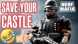 Нёрф Челлендж Save Youre Castle || Nerf Challenge Save Youre Castle