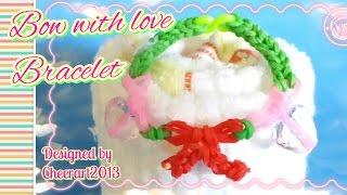 Bow With Love Bracelet Rainbow Loom Tutoria橡筋編織l愛心蝴蝶手繩教學