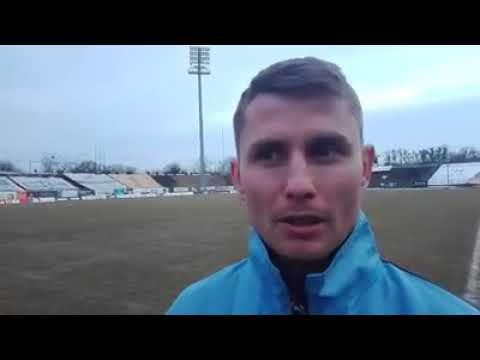 Rozmowa z Pawłem Głowackim po odwołanym meczu Stomil - Ruch