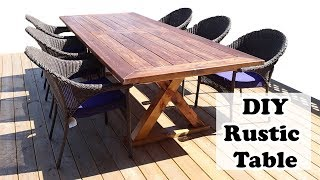 DIY Outdoor Dining Table | Affordable 10 Foot Table