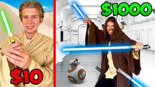 $10 vs $1000 Ultimate Star Wars Battle! *JEDI BUDGET CHALLENGE*
