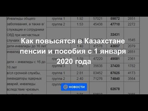 Как повысятся в Казахстане пенсии и пособия с 1 января 2020 года