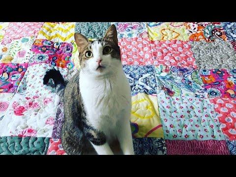 cómo hacer una manta de patchwork para cama paso a paso, rag quilt.