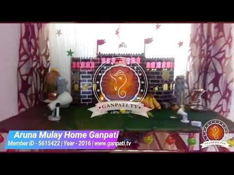 Aruna Mulay Home Ganpati Decoration Video