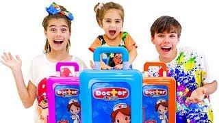 Nastya Artem và Mia đang có một chuyến đi với đồ chơi mới