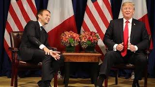 トランプ・マクロン両大統領山あり谷ありの2人の関係