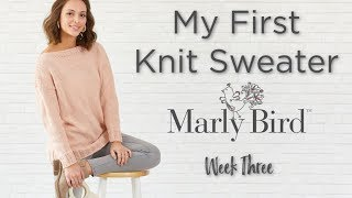 My First Knit Sweater Knit-along Week 3 LIVE Q&A With Marly